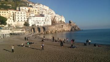 Amalfi from the main beach