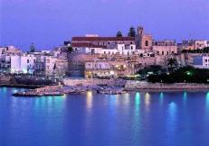 Italy, Apulia, Lecce district, Salentine Peninsula, Salento, Otranto, Travel Destination, Old town, illuminated