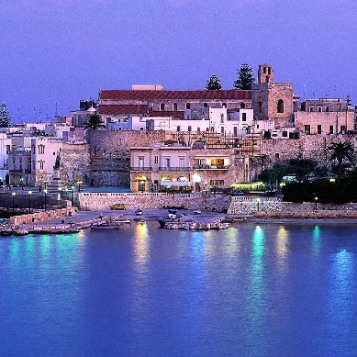 Italy, Apulia, Lecce district, Salentine Peninsula, Salento, Otranto, Travel Destination, Old town, illuminated