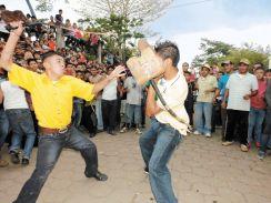 Los chinegros de San Juan de Oriente, son el atractivo de las festividdaes de junio. LA PRENSA/ N. GALLEGOS