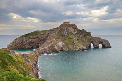 Islet of San Juan de Gaztelugatxe on the Biscay coast, Basque Country.