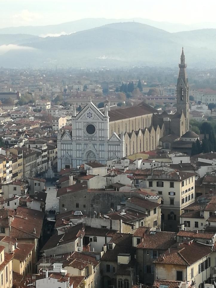 Basilica di Santa Croce vista da palazzo Vecchio